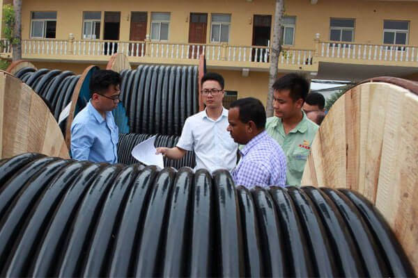 inspecting electrical cable